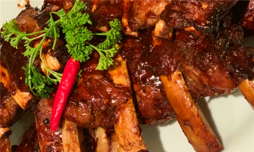 450g Beef Ribs with Chips at The Rooftop Restaurant