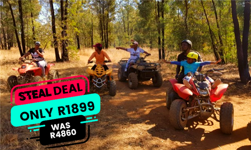 Quad Biking with Air Rifle Target Shooting Including Spit Braai with Three Meats at Horse Riding Adventure