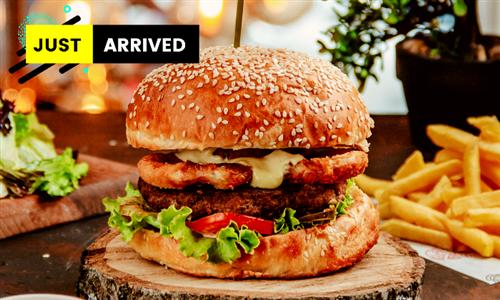 Choice of Burger with Fries at Cira Nathe Cafe