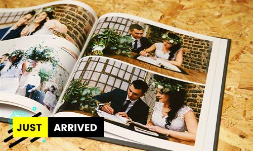 30-Page Photo Book – Espresso Square 20 x 20cm Printed Hard Cover from Studio22