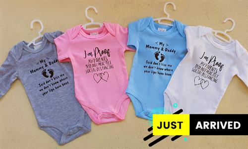 Choice of Printed Babygrows from Mojo Printing