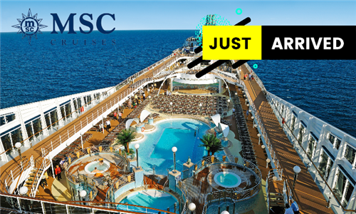 22 November 2021: 4-Night Durban to Pomene, Mozambique Cruise for Two Adults Aboard the MSC Musica