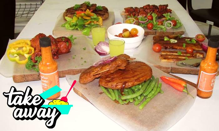 Choice of vegan meal at Romeo & Vero Vegan Butchery