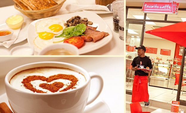 Pay R29 for 2 x Favorito Breakfasts OR R69 for a 9-Cappuccino Loyalty Card at Favorito Caffe, Wynberg