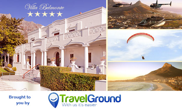 Escape for 2! Pay R499 per night or R899 per 2-night stay at the 5-star Villa Belmonte Manor House Hotel in Oranjezicht