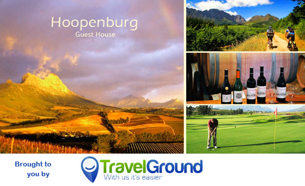 Retreat in Wine Country for 2! R499 per night OR R899 per 2-night stay incl. Cheese Platter & Wine at Hoopenburg Guesthouse