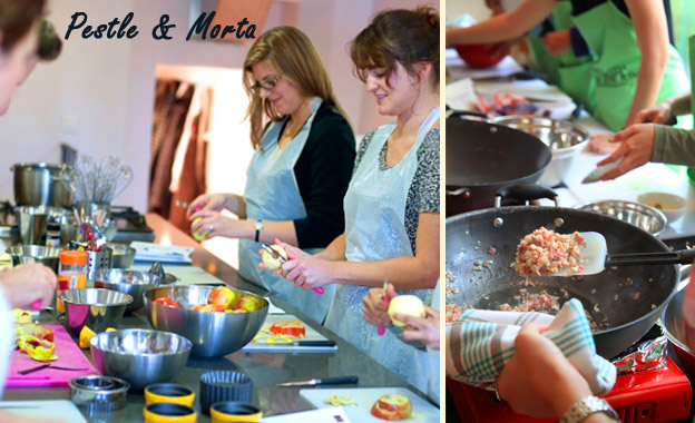 5-hour In-Home Gourmet Cooking Class (choice of 4 menus) for up to 4 people for R999 with Pestle & Morta (value R2000)
