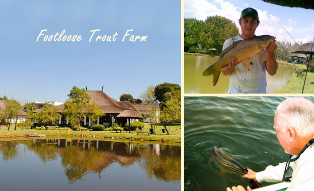 Enjoy a day of fishing fun for adults and kids (rod hire optional) at Footloose Trout Farm in Fourways, starting from R49