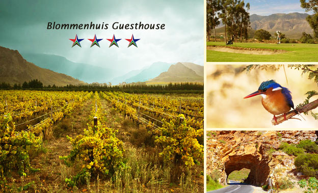 Retreat in Montagu for 2! R350 (1-night) or R699 (2-night) or R1100 (2-night PLUS Wine Tour) at 4-star Blommenhuis Guesthouse