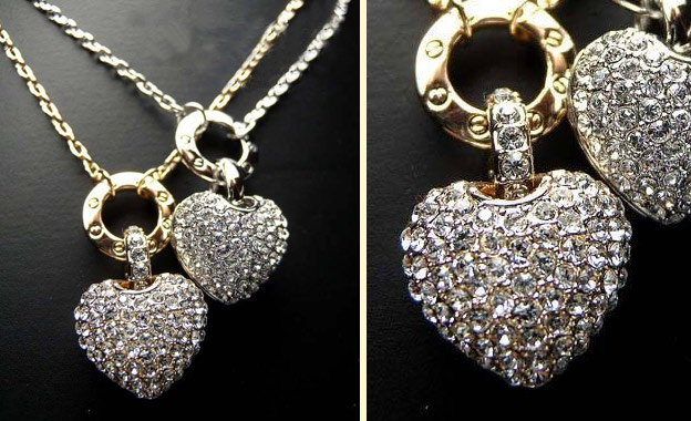 Genuine Swarovski elements! R189 (Stud Earrings) or R399 (Heart Pendant Necklace) or R499 for Both, from Alma Fashion