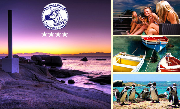 4-star escape for 2! Pay R599 (Standard) or R669 (Luxury) per night at Simon's Town Quayside Hotel, breakfast included