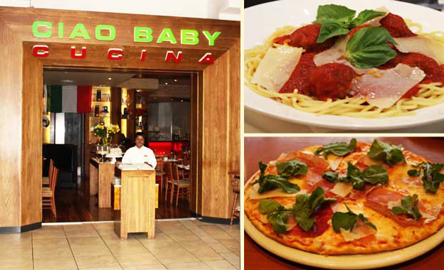 Italian delight for 2! R69 for 2 pizza or pasta dishes OR R99 for R200 off your food bill at Ciao Baby Cucina, Clearwater
