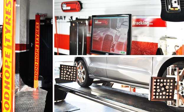 Get your ride shipshape with a 3-D Wheel Alignment for R99 at Goodhope Tyres, Wynberg or Tokai branch (value R250)