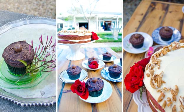 Satisfy your sweet tooth! Chocolate Truffle/Red Velvet Cake (R125) or 30x Cupcakes (R210) at High Tea, Plumstead (save 50%)