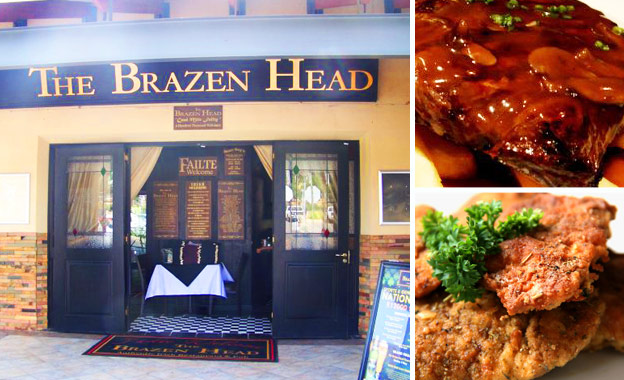 Authentic Irish Pub Meal for 2! R98 for a choice of 300g Rump Steak or Chicken Schnitzel at The Brazen Head in Florida
