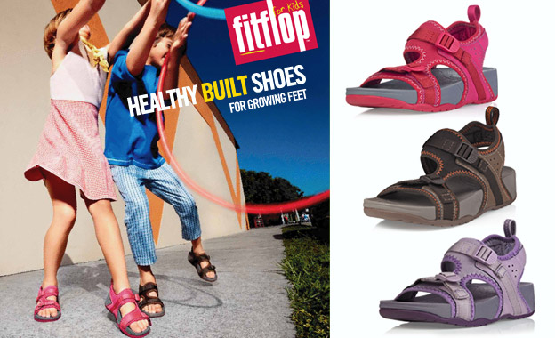 Pay R264 for a pair of kid's unisex Scrambler sandals by FitFlop (value R529, includes nationwide delivery)