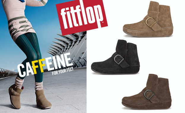 Pay R689 for a pair of ladies Dash suede ankle boots by FitFlop (value R1379, includes nationwide delivery)