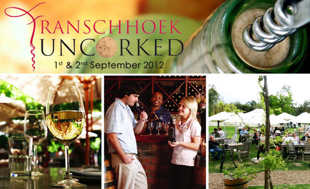 R99 for a Weekend pass for 2 people to the Franschhoek Uncorked Festival on 1st and 2nd September 2012