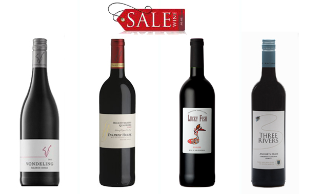 Replenish your cellar with a 12-bottle mixed case of 4 selected red wines (R35.83 per bottle)