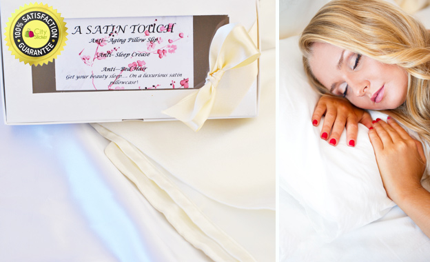 Get your beauty sleep with 2x cashmere satin pillowcases in a gift box for R139 including delivery (value R349)
