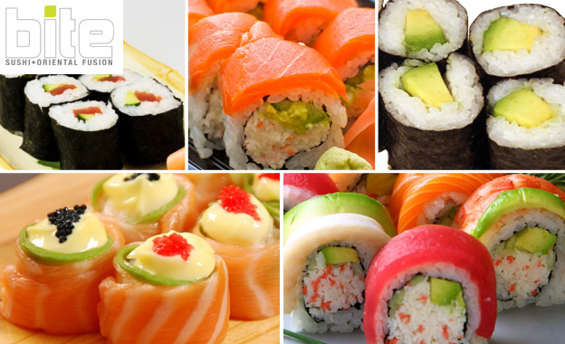 Sushi for 2! R80 for 24-piece sushi platter with salmon roses, rainbow rolls, tuna maki… at trendy Bite Restaurant in Greenside