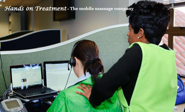 Neck & shoulder massages for 10 or 20 people at a location of your choice for R450 with Hands On Treatment (value R912)