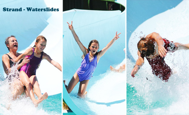 Make a splash with the whole family at Strand Waterslides with a 2-hour pass for 2 people for R55