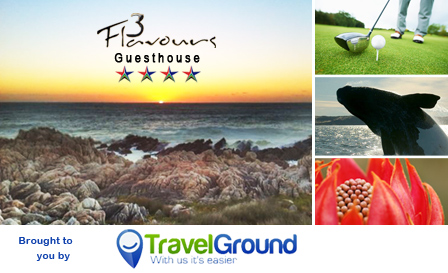 Pringle Bay escape! Pay R550 per night OR R990 per 2-night stay for 2 at the 4-star 3 Flavours Guesthouse, breakfast included