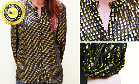 Get an authentic women's MANGO silk shirt for R199, including delivery (value R700)