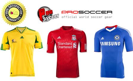 For the soccer fans! R299 for original Chelsea, Liverpool or Bafana Bafana soccer jerseys including delivery (value R599)