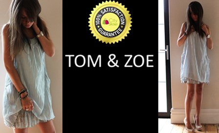 Dress to impress! Original Tom & Zoe double layered light gray summer dress with lace bottom finish for R345 (value R690)