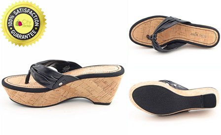 Step out in style! R499 for a Nine West thong wedge cork sandal PLUS complimentary SNOODY, delivery included
