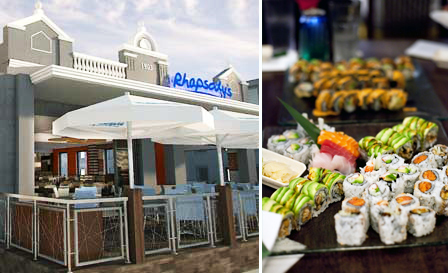 Dinner for 2 at Rhapsody's in Green Point! R109 for a 30-pc sushi platter OR R189 for 2 mains (lamb shank, rump or T-bone)