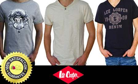 For the fellas! 3x original Lee Cooper short-sleeve T-shirts, in various styles and colours for R399, incl delivery (value R695)