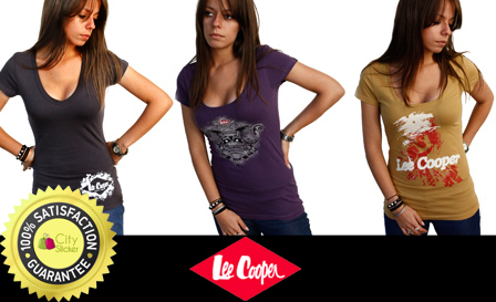 Rock a set of 3x original ladies Lee Cooper T-shirts in various colours and styles for R349, including delivery (value R645)