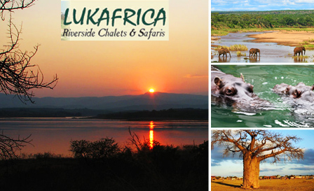 Tranquil escape for 2, incl breakfast, to Lukafrica Riverside Chalets and Safaris in Limpopo, starting from R550 per night