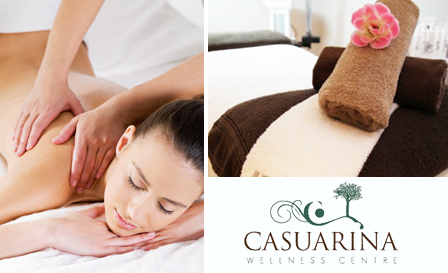 Indulgence at Casuarina Wellness Centre! R199 for a full body Swedish massage OR R350 for a facial and neck and shoulder massage