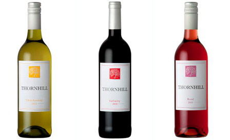 Mixed case of exclusive Thornhill wines (Chardonnay, Infinity & Rosé) starting from R33 per bottle, delivery included