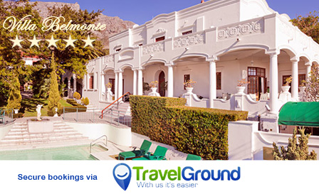Escape with your loved one to the 5-star Villa Belmonte Hotel starting from R599 per night for two, breakfast included