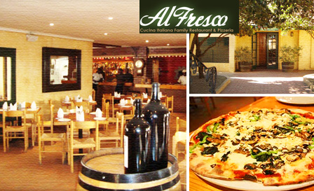 Enjoy a choice of 6 signature dishes for up to 4 people, including kids' pizza and ice-cream from R105 at Al Fresco in Honeydew