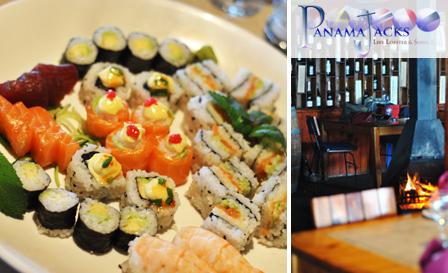 30-pc sushi platter for 2 at Panama Jacks in Cape Town Harbour including salmon roses, tuna sashimi, prawn nigiri... for R119