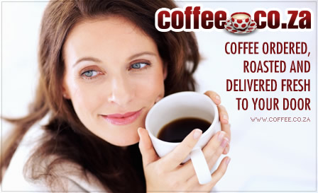 R299 for 2kg of flavoured coffee (Amarula Cream, Hazelnut, Cream Caramel…) or R312 for 2kg Rossini Espresso, including delivery