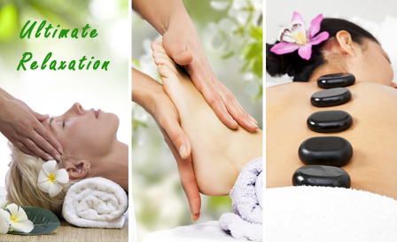 Indulge in 3 massages! Indian head OR hot stone massage PLUS reflexology and back massage from R260 at Ultimate Relaxation