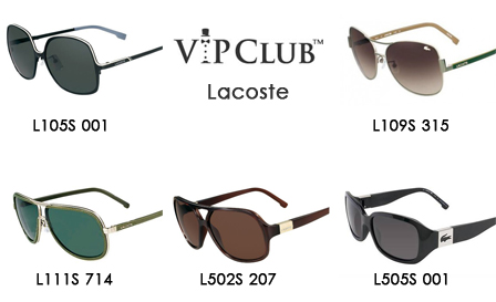 LACOSTE authentic sunglasses in designer unisex styles for R899 including delivery (value R1899)