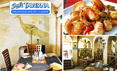 Enjoy a 1kg Queen prawn platter for 2 at Saul's Taverna in Sea Point for only R99
