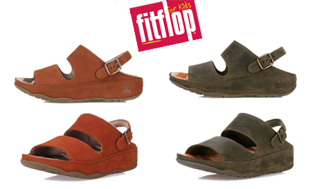 Pay R359 for a pair of kids unisex Gogh Far sandals by FitFlop, including nationwide delivery (value R724)