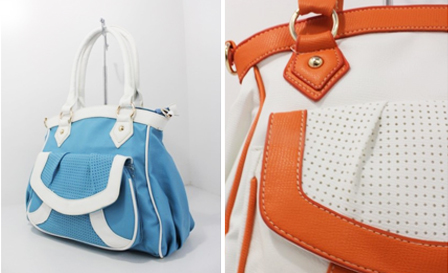 Pay R209 for a large shopper handbag available in blue and orange including delivery (style: 4414406)