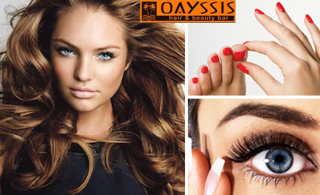 Indulge at Oayssis Hair & Beauty in Tygerfalls! Pay R195 for a hair package OR R139 for a mani, pedi and brow tint