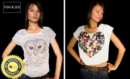 Look like a Bohemian goddess! R199 for an owl print T-shirt by Tom & Zoe, including delivery (value R379)