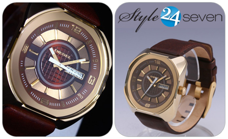 Be sophisticatedly regal in this Diesel DZ5120 with a brown genuine leather band for R1395! Delivery included